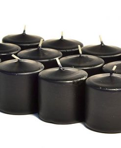Black Votives 10 Hour - Unscented