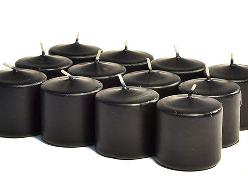 Black Votives 10 Hour – Unscented
