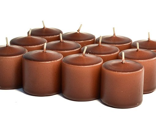 Brown Votives 15 Hour - Unscented