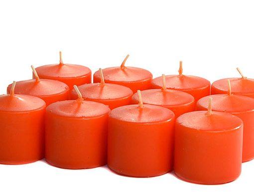 Burnt Orange Votives 10 Hour – Unscented
