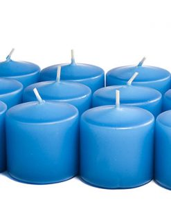 Colonial Blue Votives 10 Hour - Unscented