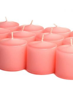 Dusty Pink Votives 10 Hour - Unscented