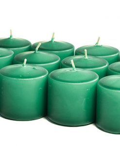 Forest Green Votives 15 Hour - Unscented