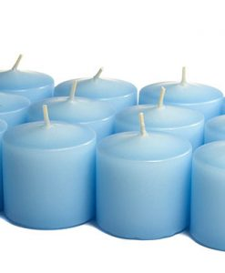 Light Blue Votives 10 Hour - Unscented