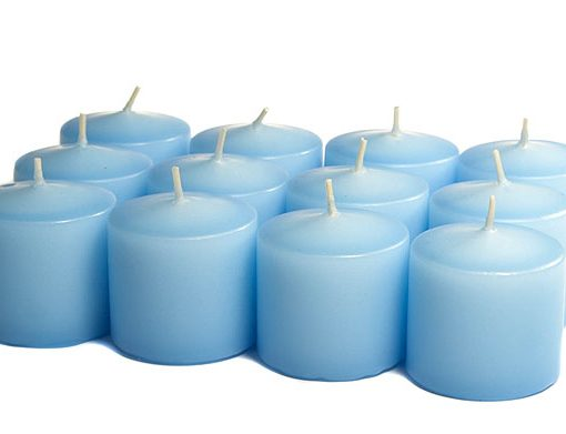 Light Blue Votives 10 Hour – Unscented