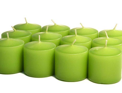 Lime Green Votives 10 Hour – Unscented
