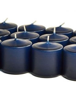 Navy Votives 10 Hour - Unscented