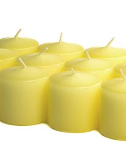 Pale Yellow Votives 10 Hour - Unscented