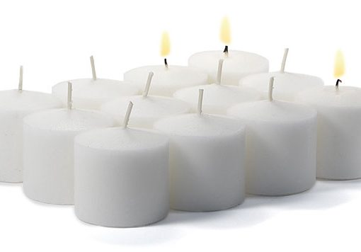 Bulk White Votives 288 Pack 10 Hour - Unscented