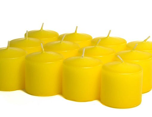 Yellow Votives - 15 Hour - Unscented