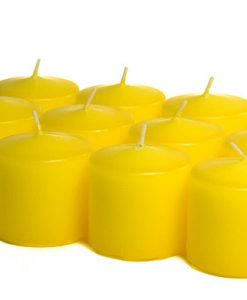 Yellow Votives - 10 Hour - Unscented