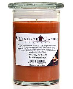 12 oz Amber Romance Soy Jar Candles