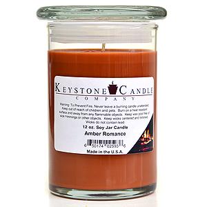 12 oz Amber Romance Soy Jar Candles