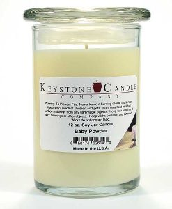 12 oz Baby Powder Soy Jar Candles