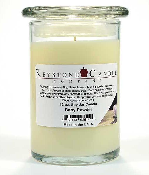 12 oz Baby Powder Soy Jar Candles