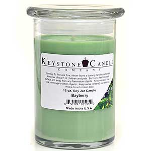 12 oz Bayberry Soy Jar Candles