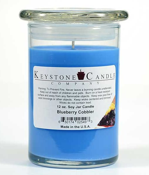 12 oz Blueberry Cobbler Soy Jar Candles