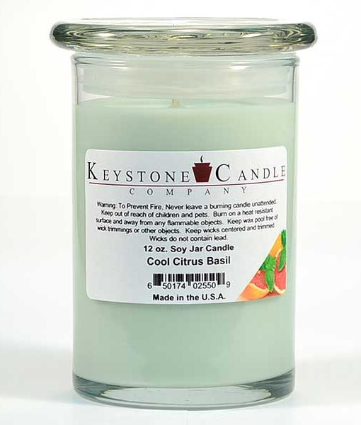 12 oz Cool Citrus Basil Soy Jar Candles