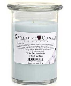 12 oz Clean Cotton Soy Jar Candles