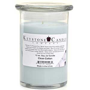 12 oz Clean Cotton Soy Jar Candles