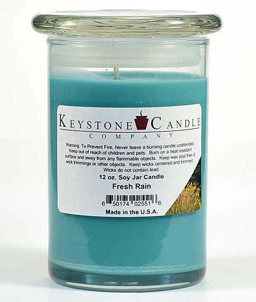 12 oz Fresh Rain Soy Jar Candles