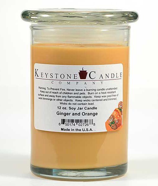 12 oz Ginger and Orange Soy Jar Candles