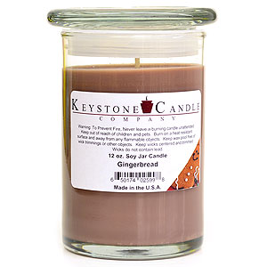 12 oz Gingerbread Soy Jar Candles