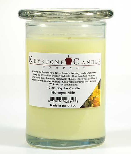 12 oz Honeysuckle Soy Jar Candles
