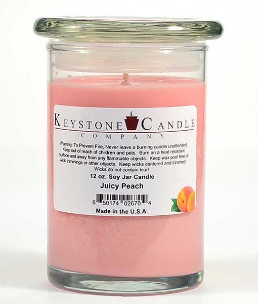 12 oz Juicy Peach Soy Jar Candles