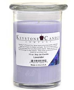 12 oz Lavender Soy Jar Candles
