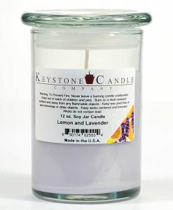 12 oz Lemon and Lavender Soy Jar Candles