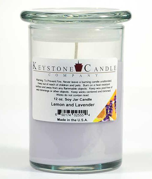 12 oz Lemon and Lavender Soy Jar Candles