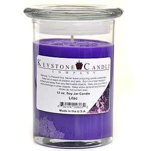 12 oz Lilac Soy Jar Candles