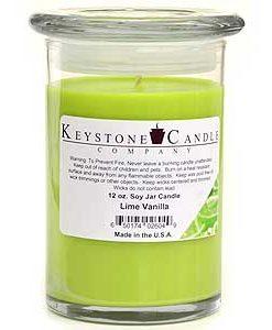 12 oz Lime Vanilla Soy Jar Candles