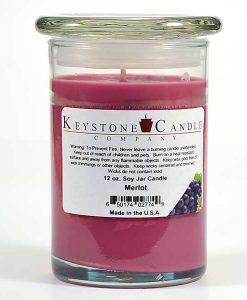 12 oz Merlot Soy Jar Candles