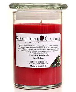 12 oz Mistletoe Soy Jar Candles