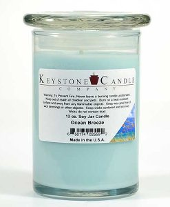 12 oz Ocean Breeze Soy Jar Candles