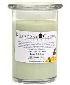 12 oz Sage & Citrus Soy Jar Candles