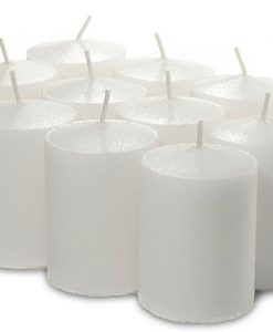 Bulk White Votives 288 Pack 15 Hour - Unscented