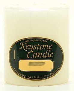 White 3 x 3 Pillar Candles - Unscented