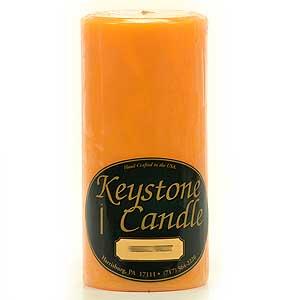 Orange Twist 3 x 6 Pillar Candles