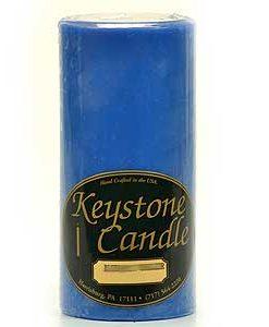 Blue Christmas 3 x 6 Pillar Candles