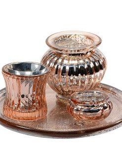Votive Candle Holder Copper Set 4 Piece Set