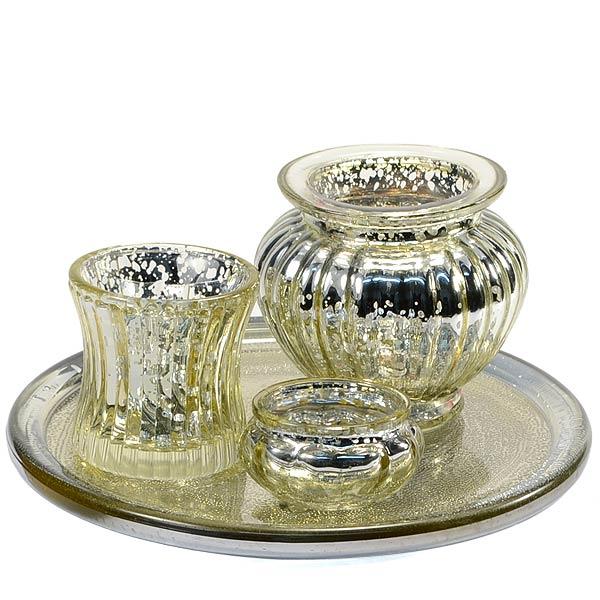 buy votive candle holder gold set 4 piece set online bulk votive cups. Black Bedroom Furniture Sets. Home Design Ideas