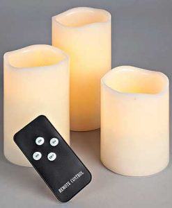 Remote Control LED Pillars 4 Piece Set
