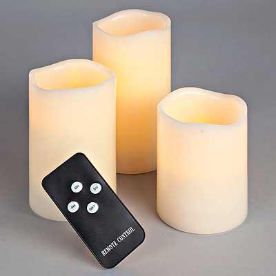 Remote Control LED Pillars 4 Piece Set