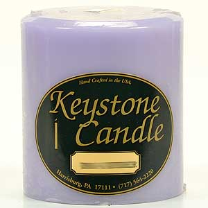Lemon Lavender 4 x 4 Pillar Candles