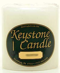 White 4 x 4 Pillar Candles - Unscented