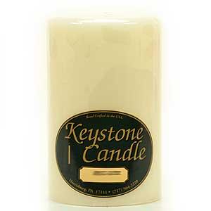 4 x 6 Ivory Pillar Candles – Unscented
