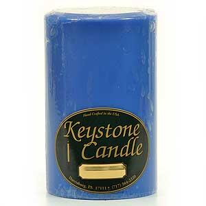 Blue Christmas 4 x 6 Pillar Candles